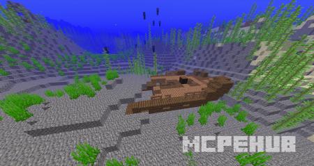 Затонувший корабль в подводном мире