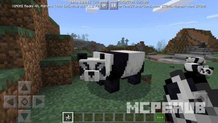 майнкрафт где есть панды