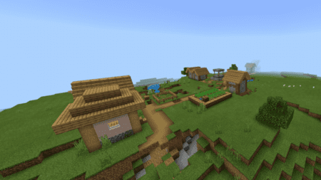 Скриншот Mushroom Biome with a Ravine and Village 3
