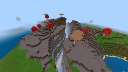 Скриншот Mushroom Biome with a Ravine and Village 2