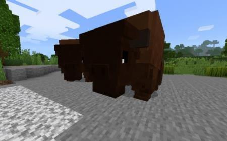 бизон в майнкрафт