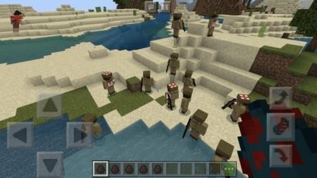 Множество вражеских солдат возле реки