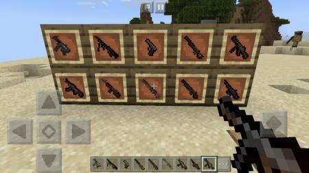 Представление оружия в рамках, доступного после установки мода