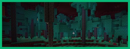 Искаженный лес панорама