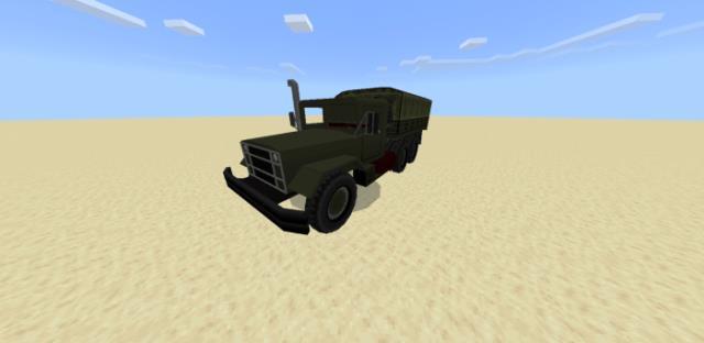 Военный транспортер M939 в пустыне