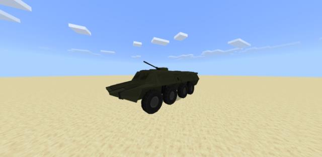 БТР80 в пустыне