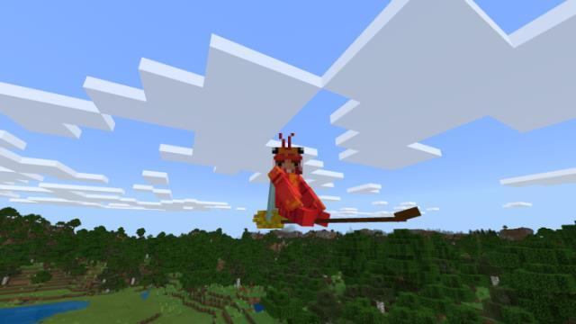 Игрок, летающий на метле