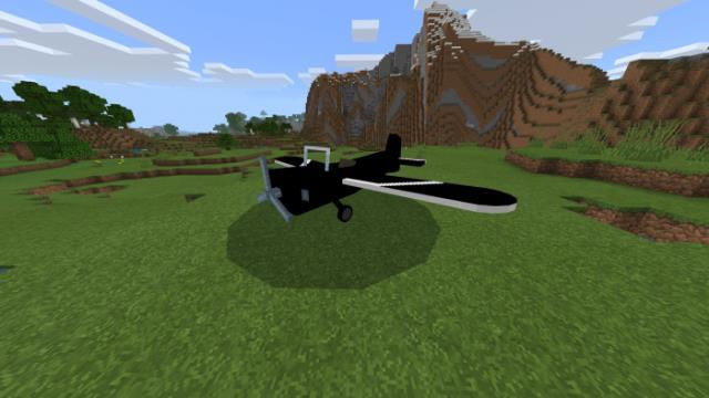 Самолет на равнине
