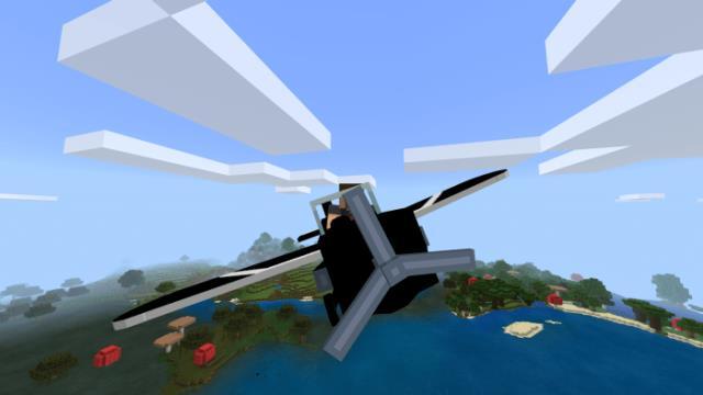 Анимация полета на самолете