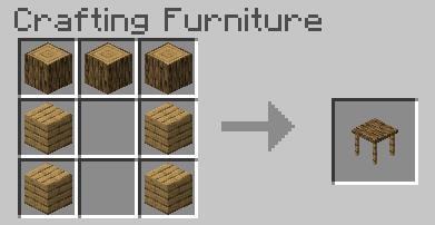 Деревянный стол крафт